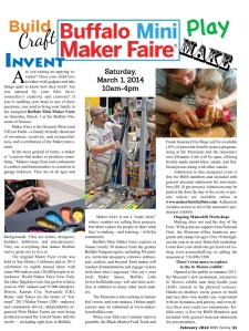 WNY Family Magazine Article